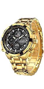 Reloj dorado para hombre