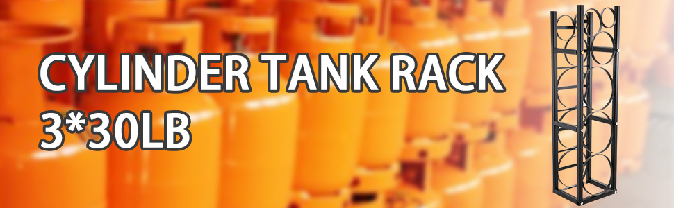 Bestequip Refrigerant Tank Rack With 3 30lb And Other 3 Saving Space Cylinder Tank Rack 46x13x4 Inch Refrigerant Cylinder Rack Gas Cylinder Racks And Holders For Gas Oxygen Nitrogen Storage Industrial Scientific