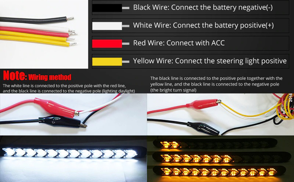 led drl arrow strip installation guide