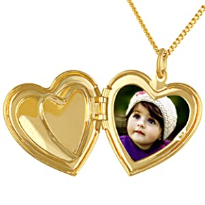 picture locket heart locket necklace that holds pictures girls locket necklace gold link chain 14k