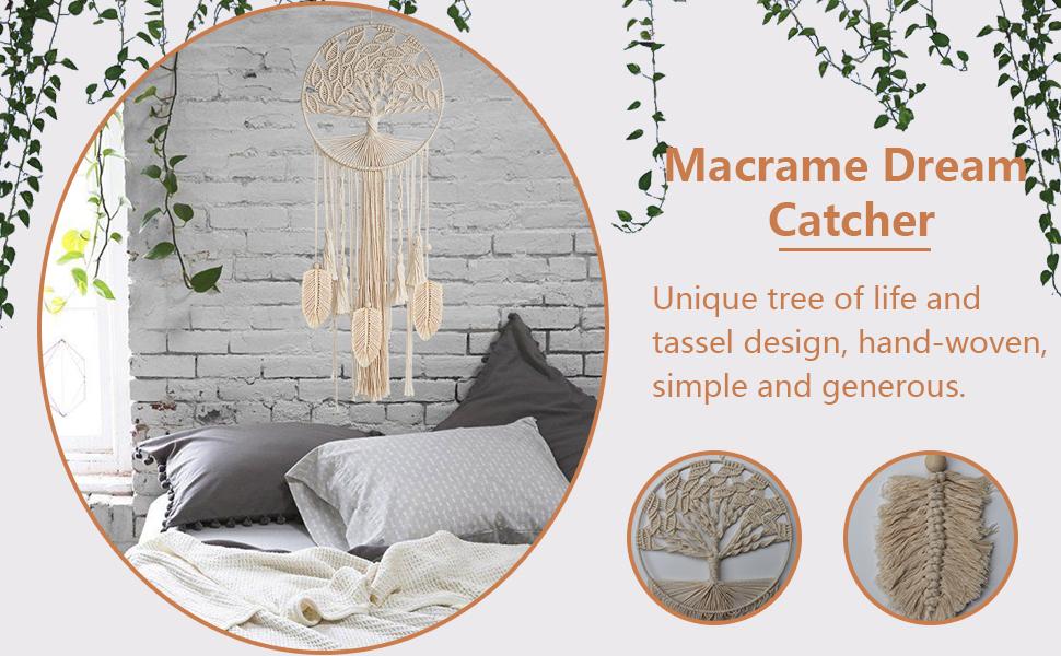 macrame dream catcher for bedroom