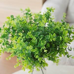 green plants artificial decor