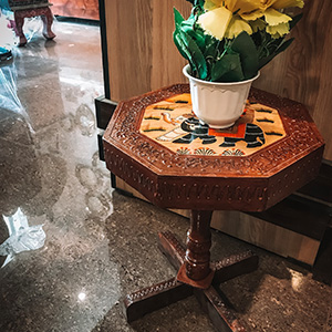 wood stool for pooja