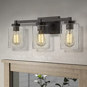 Beionxii Bathroom Vanity Lights 3-Light Vintage Wall Sconce