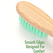 Smooth edges and small head toothbrush