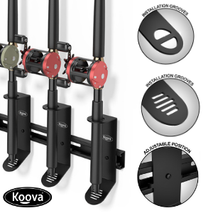 fishing rod holders with call out circles with details