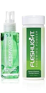 Fleshlight Care Pack Cleaner Fleshwash And Renewing Powder