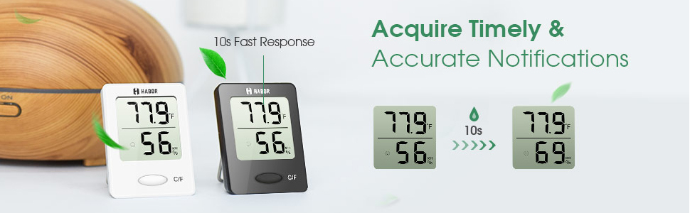 Habor Superior Mini Digital Indoor Hygrometer Thermometer