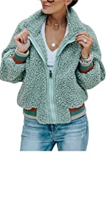 ETCYY NEW Women Plaid Pink Sweatshirt Oversized Coat