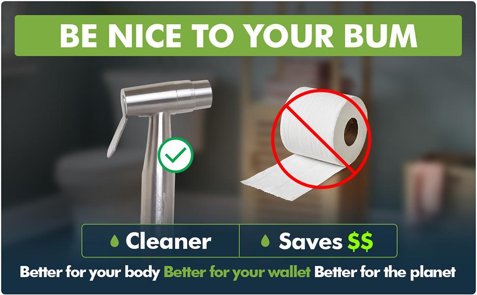 warm water bidet no toilet paper