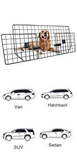 Dog Car Barrier for SUVs, Van, Vehicles - Adjustable Large Pet SUV Barriers Universal-Fit
