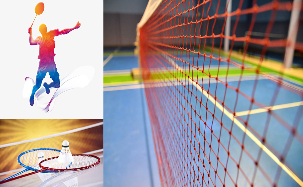 forestfish Portable Badminton Net Outdoor Sports for Garden School 20 FT x 2.5 FT