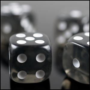 6 Dados de Juego para el Tablero PhoneNatic Rollos y Juegos de Mesa en Negro