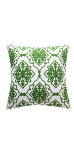 green pillow covers decorative