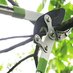 mesoga bypass loppers extendable, telescoping tree pruners trimmers long handled shears scissors
