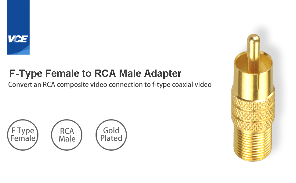 F-Type Female to RCA Male Adapter