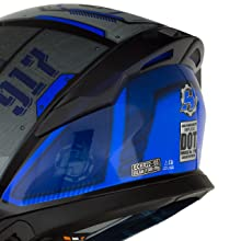 HAX Helmets CASCO CERRADO DOBLE CERTIFICACIÓN SERIE IMPULSE spoiler doble certificación DOT ECE