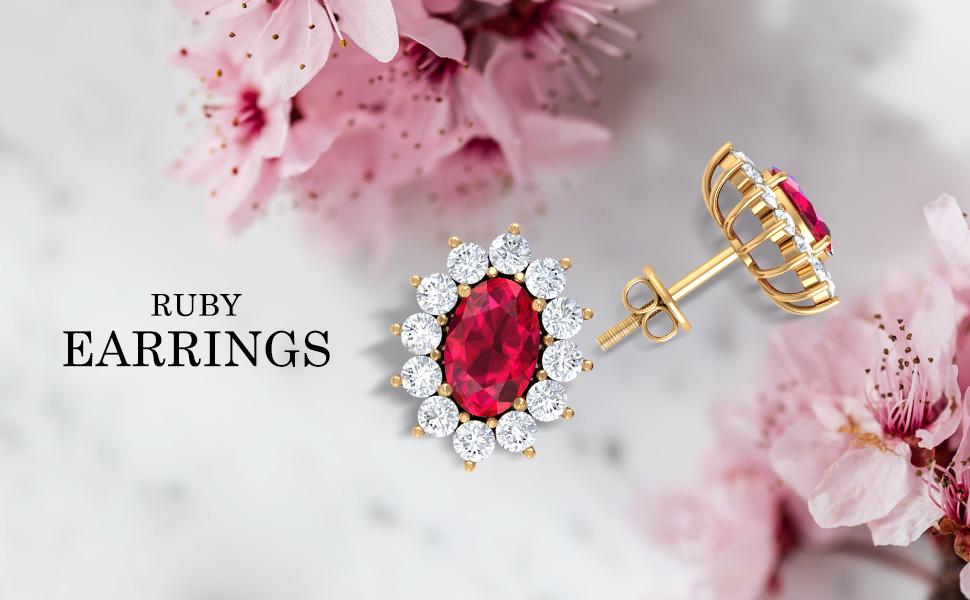Banner Ruby Earrings