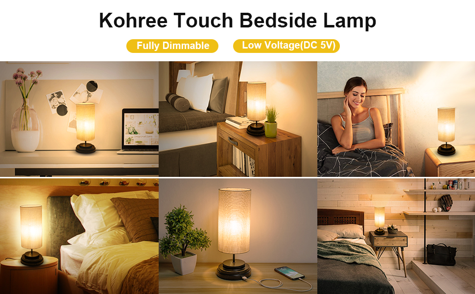 kohree touch beside lamp
