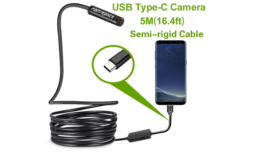 F/üR Die Inspektion Motor Motor Motor Sewer Pipe Vehicle,1M DMDMJY USB Endoscope Android,5mm Hd Semi-Rigid Snake Camera Multifunktion Household Inspection Camera