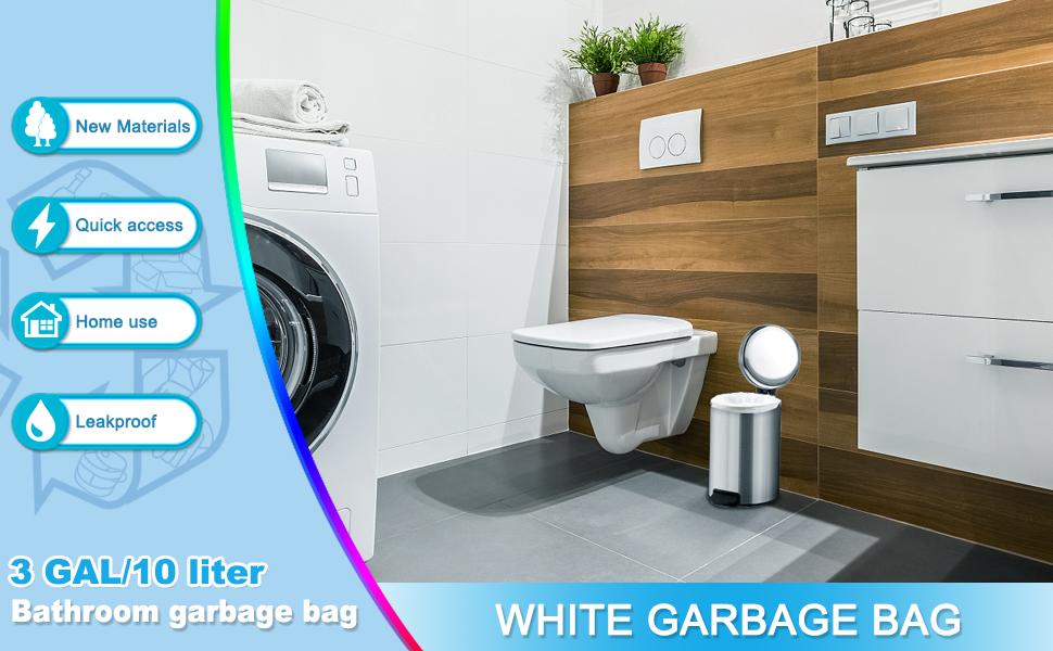 White garbage bag