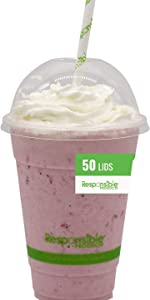 50 Qty Clear Cup Dome Lids