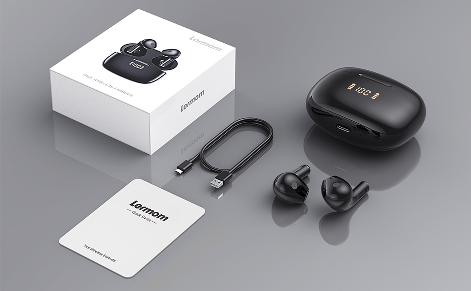 Lermom wireless earbuds P2-10
