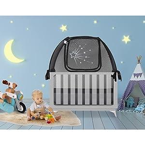 popup crib tent size standard crib