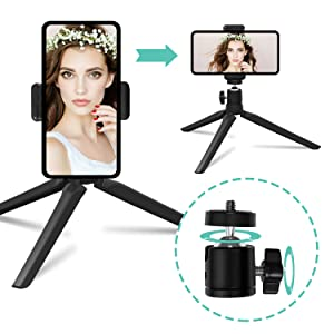 Control Remoto para Maquillaje Soporte para tel/éfono Moonyeu Qiilu Anillo de luz LED con Cable USB Anillo de luz LED Selfie de 6con Soporte para tr/ípode