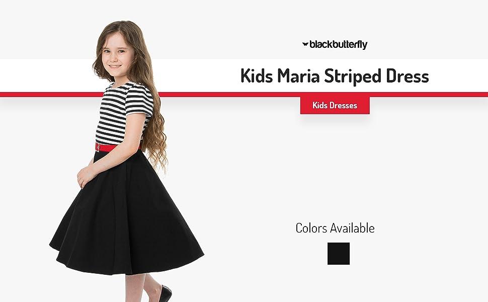 Kids Maria Striped Dress