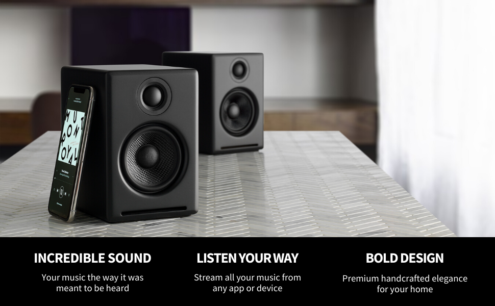 a2 speakers, audioengine computer speakers, best computer audio, a2+ audioengine, desktop speakers