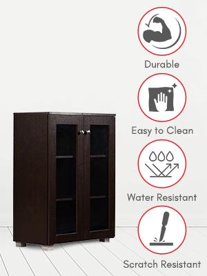 DeckUp Awana Book Shelf/Display and Storage Unit (Dark Wenge, Matte Finish SPN-FOR1