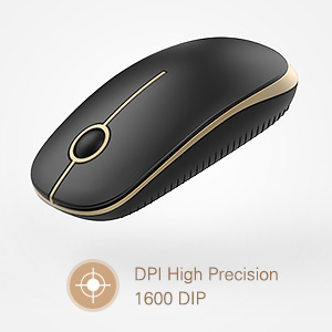 wireless mouse  Jelly Comb 2.4G Slim Wireless Mouse with Nano Receiver MS001 (Black and Gold) 3135eb70 a92b 4f16 b994 cb55f788588a
