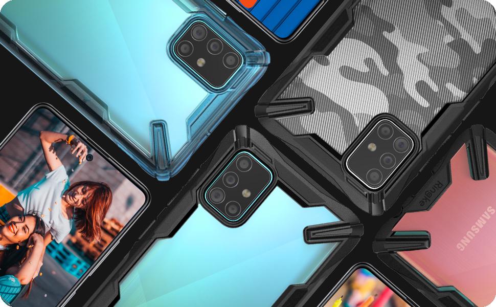 Ringke Fusion-X Diseñado para Galaxy A71 Funda Protección Tecnología de Absorción de Golpes Funda