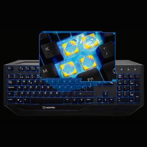 Hiditec | Teclado Gaming con Cable GK200 | Teclado Gamer de Membranas Retroiluminado LED | Teclado para pc Gaming | Estructura de Aluminio | N-Key ...