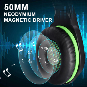 50MM Driver Gaming headphones for PS4