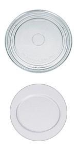 Assiette en verre de 272 mm de diamètre pour micro-ondes.