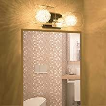 bathroom vanity light chrome