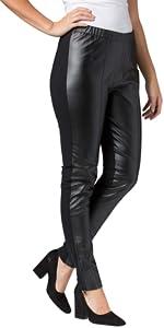 Leather and Ponté Pants