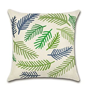 Set OF 4Outdoor Spring Throw Pillow Covers 18x18 Waterproof