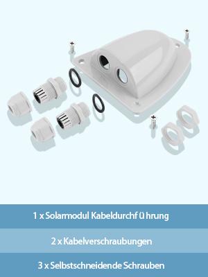 Bougerv Solarmodul Kabeldurchführung Dachdurchführung Doppelkabel Dachbefestigungen Wohnmobile Solar Decksdurchführung Abs Wasserdicht Für Kabeltypen Von 2mm Bis 6mm Auto