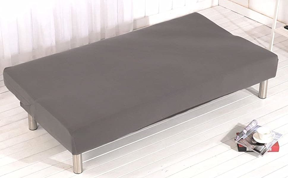non-armrest sofa slipcover grey