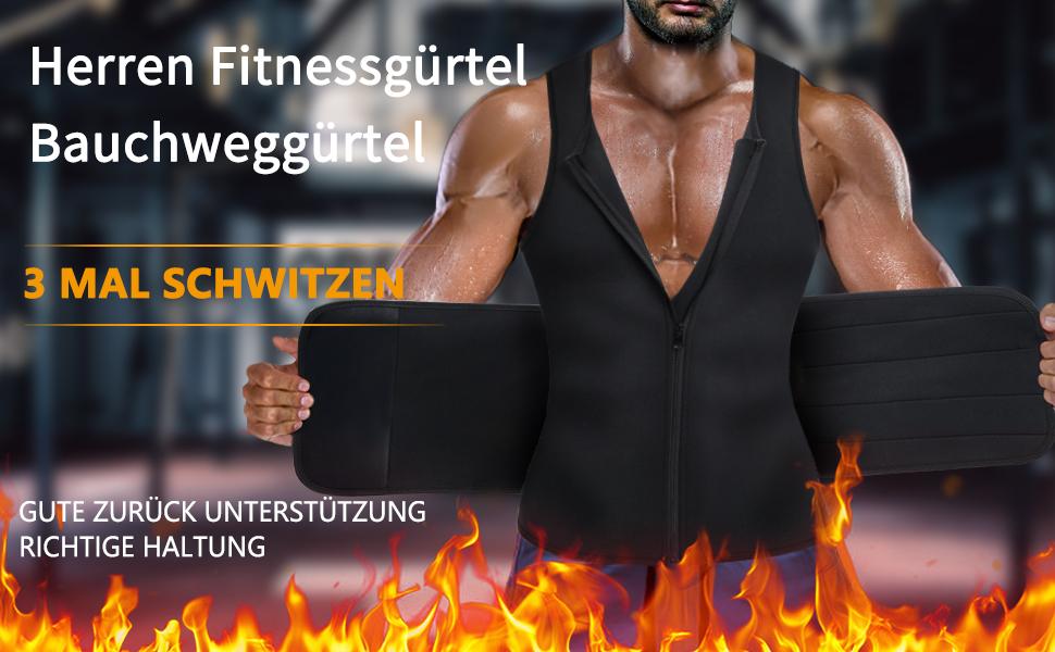 Fitness Gürtel Bauchgürtel Abnehmen Verstellbarer Neopren Sauna Gürtel Gewichtsverlust Bauchweg