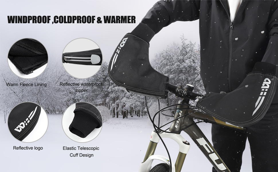 Winter Cycling Gloves Warmer Cover Bike Bar Handlebar Mittens Hand Gloves