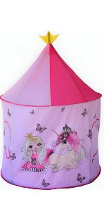play tent, princess, pink, unicorn, pop up tent, tepee, indoor, outdoor, toys, toy,kids, gift,girl