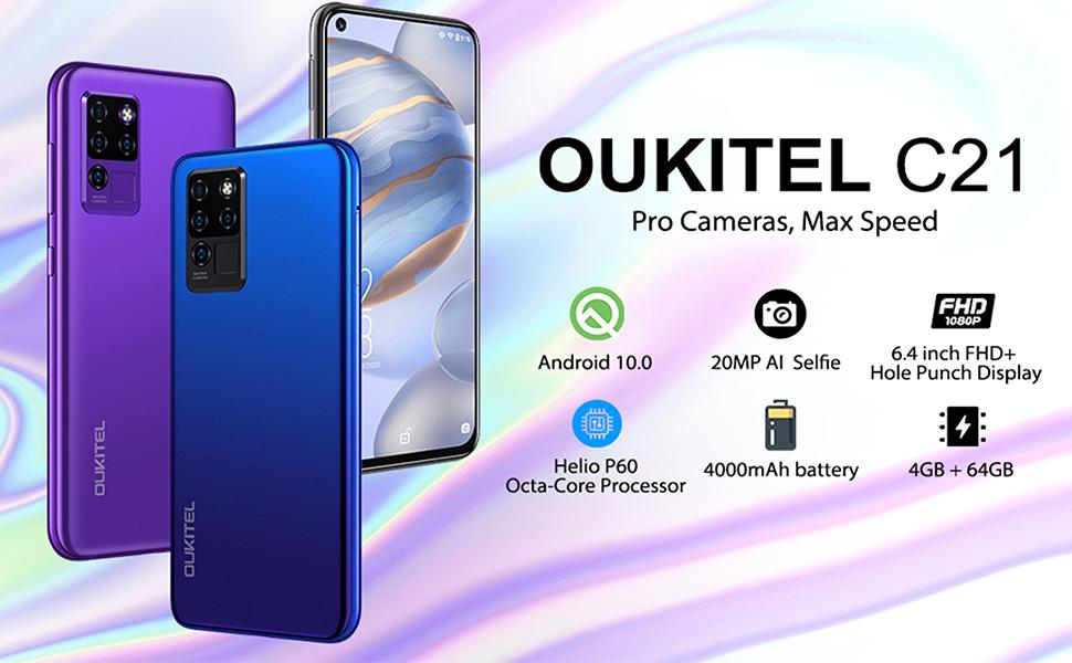 oukitel c21 smartphone black