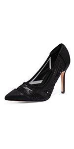 Women's High Heel Rhinestone Pointed Toe Pumps Shoes