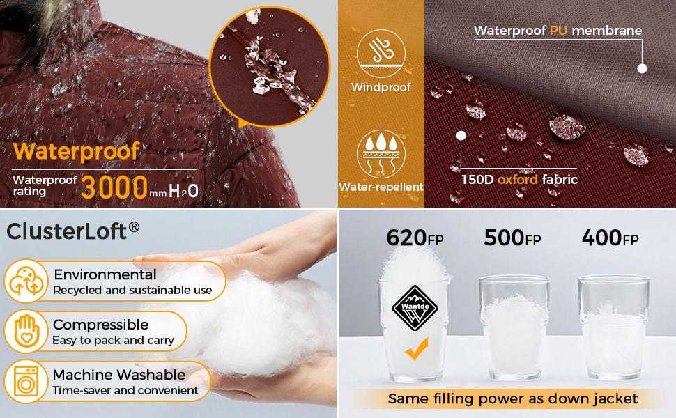 Wantdo Water-Resistant Puffer Jacket