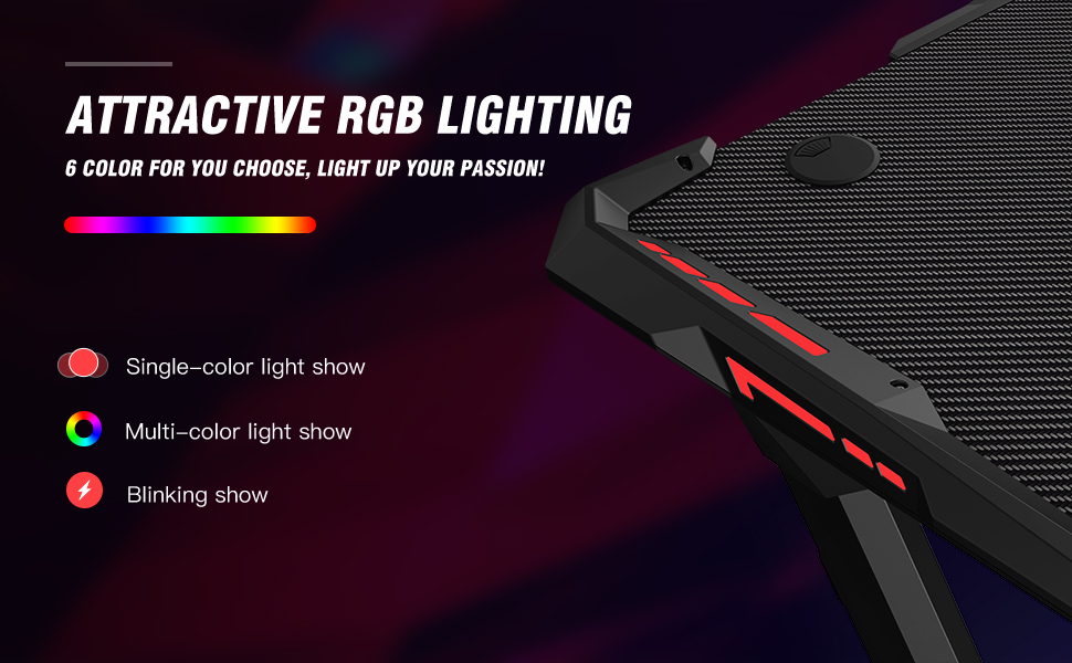 gaming desk with light