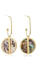 dangle earring shell earring women earring 14k gold plated earring